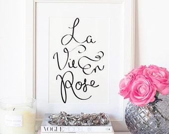 Chic Parisian Art Print | Parisian Chic Art Print | Minimalist Print | Minimalist Art Print | Chic Typography Print | Stylish Parisian Print