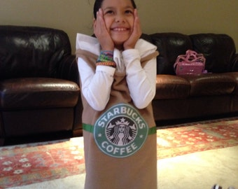 Starbucks Cup Costume Adult Sizes Custom Made Cappuccino Frappucino