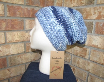 Slouchy Beanie Hat - Saturday Blue Jeans