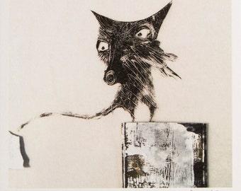 Print - Cat Perch