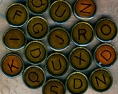 Typewriter Letter Key Alphabet Beads Vintage Style
