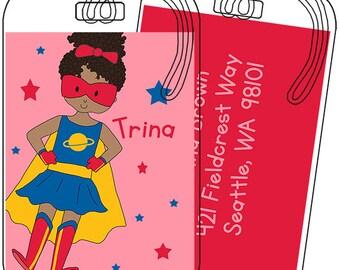Super Girl Luggage or Backpack Tag- Custom