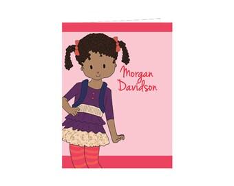 Sassy School Girl School Folder- Custom