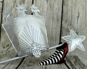 Glinda the Good Witch Wizard of Oz Inspired Crown and or Wand for Children or Adults