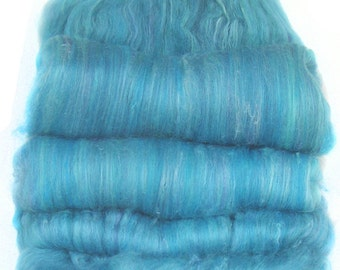 handcarded batt spinning fiber 3.4 oz