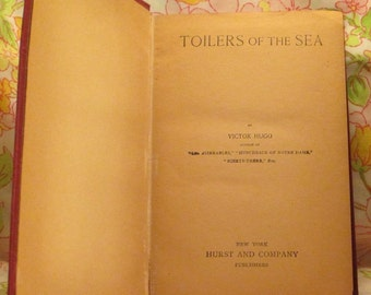Toilers of the Sea - Victor Hugo - Vintage Book