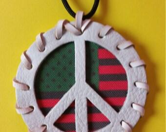 Pan African Flag Peace Medallion