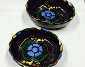 Imported Floral Mexican Ceramic Bowls