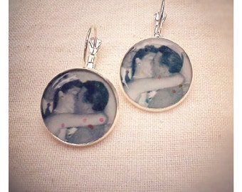 The End of the Wedding Ceremony photo collage earrings