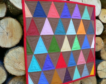 Triangles miniature quilt