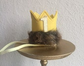 READY to SHIP Where the Wild Things Are MAX crown, headband crown, smash cake photo prop, first birthday