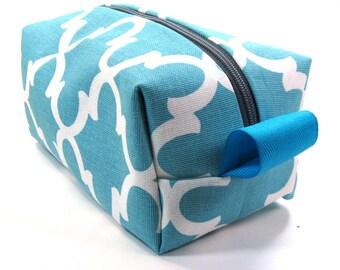 Makeup Bag / Cosmetic Bag/ Travel Bag / Toiletry Bag - Blue Fulton