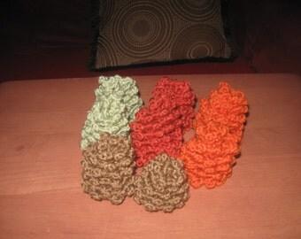 Set of Ten Crocheted Pine Cones