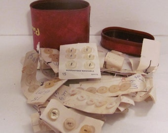Vintage Buttons and Container