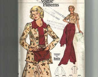 Vogue Misses' Jacket, Pants, Skirt, and Blouse Pattern 8962