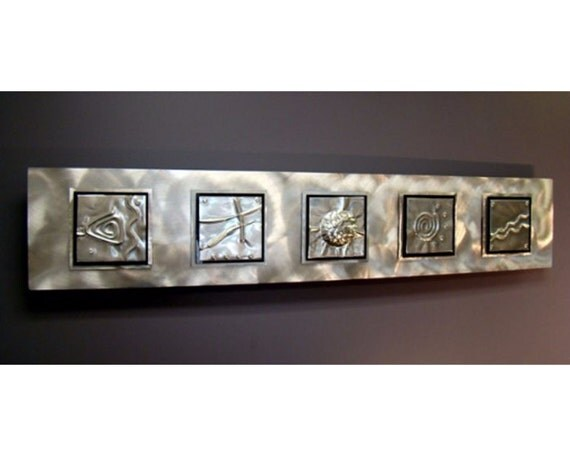 Oriental Metal Wall Decor : Items similar to silver modern metal wall sculpture zen