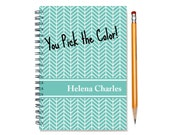 2016 Monthly Planner, Personalized 12 month Calendar Notebook, Start Any Time, Add Your Name, Custom Gift Idea, SKU: pn chevron