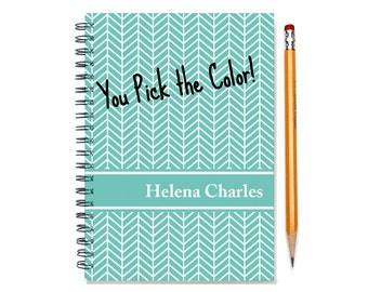 2016 2 Year Planner, Personalized 24 Month Calendar Notebook, Start Any Time, Add Your Name, Custom Gift Idea, SKU: 2yr chevron