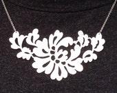 vintage lace neckpiece - sterling silver