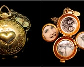 Love in My Heart - Vintage 4 Picture Coro Locket Necklace