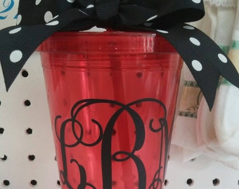Boutique, Monogrammed 17oz Double Wall Tumbler