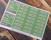 NCIS Show Stickers for Erin Condren Life Planner (ID334)