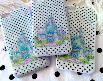 Fantasy Castle Glitter Phone Case for iPhone 4/4S, 5S, 5c or 6