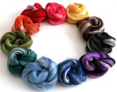 Rainbow -  Luxury Merino Wool and Silk Variety Pack Blended Combed Top over 100g