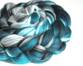 Merino Silk Blend Combed Wool Top Spinning Felting Fibre Combed Top - Spearmint  100g