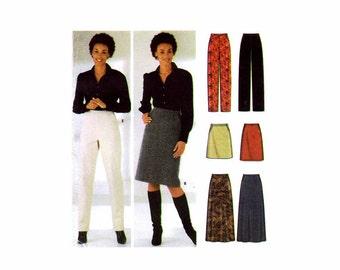 Misses Skirt Straight Leg Pants Simplicity 5844 Sewing Pattern Size 6 - 8 - 10 - 12 Waist 23 - 24 - 25 - 26 1/2 UNCUT