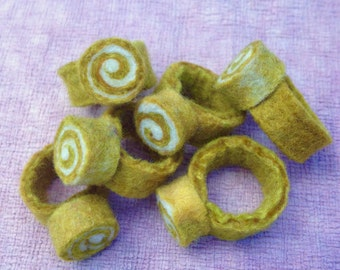 6 Party Rings - Mustard Yellow
