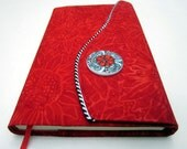 Moleskine 8 x 5 Fabric Notebook Cover, Refillable, Red