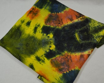 SALE Hand Dyed Silk Haboti Scarf 35 x 35 inches Luscious, Colorful Silk - Galactic Explosion