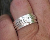 Spinner Ring Personalized Ring Sterling Silver Jewelry Hand Stamped Ring