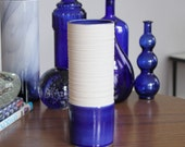 Blue Cylinder Vase - SHOP SALE - Groove Cylinder Vase in Cobalt Blue