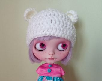 Sale WINTER WHITE teddy ears. smaller ears version