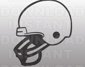 Football Helmet SVG File Cutting Template-Clip Art for Commercial & Personal Use-vector art file for Cricut,SCAL,Cameo,Sizzix,Pazzles,Vinyl