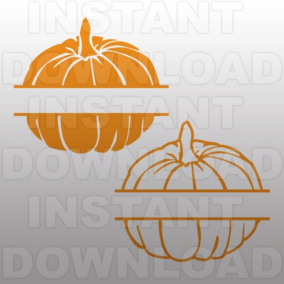 Pumpkins Halloween Monogram Split Svg File Cutting
