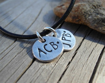 Personalized Monogram Charm in Fine Silver Nugget