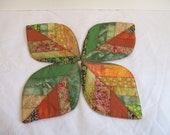 Fall Leaves, Coasters set of 4, Quilted, Autumn, Thanksgiving