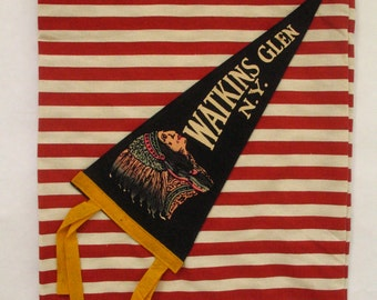 Watkins Glen, NY Pennant Flag Tote Bag-One of a Kind