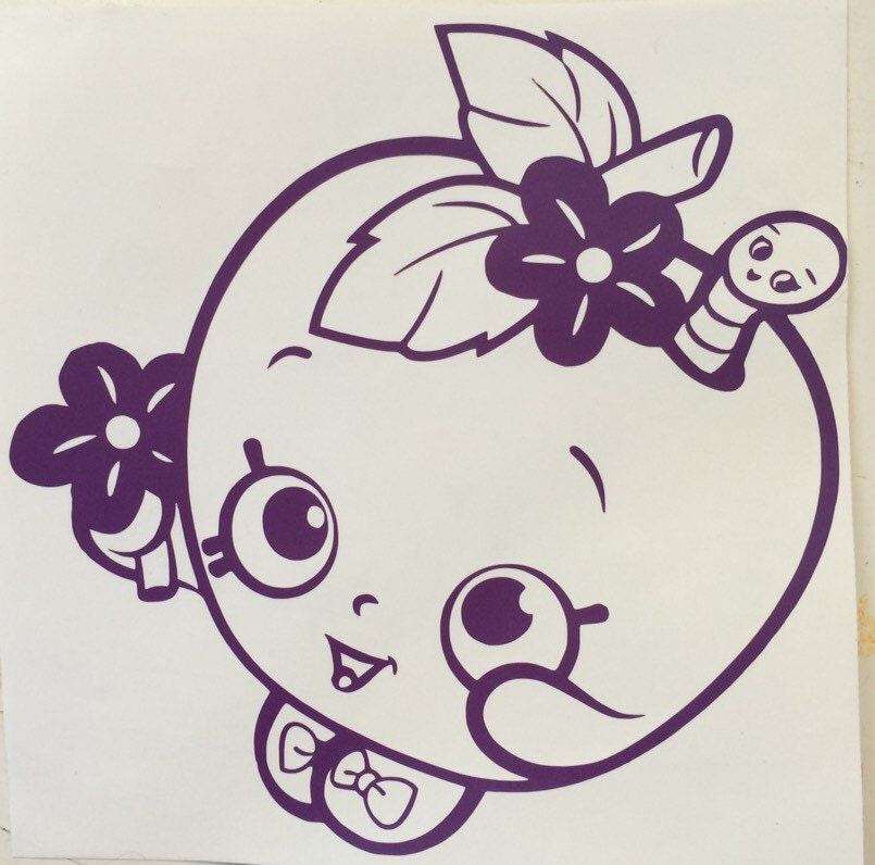 Shopkins Inspired Apple Blossom Vinyl Sticker Decal Car