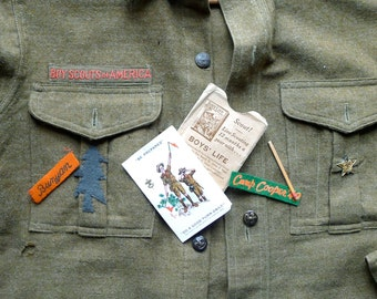 1939 Boyscout Archive Collection Shirt with Patches Newberg Oregon