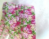 "3/8"" Weaving Star Paper~ Pink Roses (50 strips)"