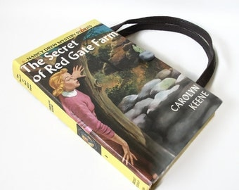Book Purse Nancy Drew Secret of Red Gate Farm Handbag Upcycled Book Bag Trendy Vintage Book Purse