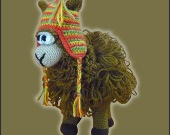 Amamani Pattern Crochet Puzzle Ball Llama Amigurumi DIY Digital Download