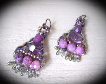 Frida Kahlo Inspired Earrings Bohemian Dangle Earrings. Gypsy Dangle Earrings.