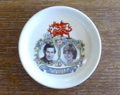 Vintage Charles and Diana Marriage Souvenir Pin Dish, 29th July 1981, Royalty, Royal Wedding, Prince and Princess, Welsh Dragon, V0466