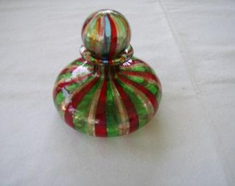 Venetian Hand Blown Glass Perfume Bottle