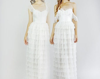 Fiona -- Silk and Lace Wedding Dress--Floor Sample--Size 2 (Sample Sale)